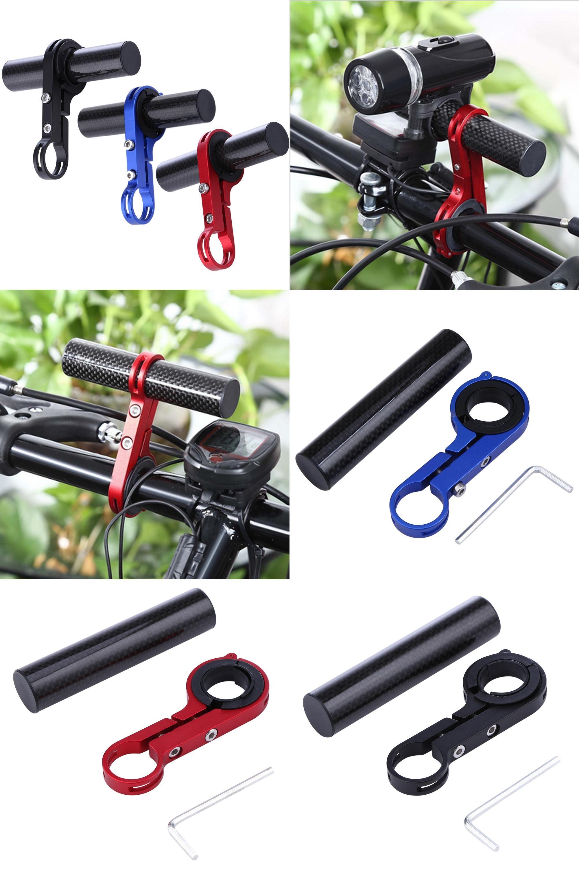 Light Carbon Bike Bicycle Handle Bar Extender Mount Lamp Bracket Holder Alloy