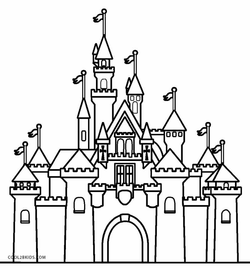 Disney Castle Coloring Pages Printable In 2020 Castle Coloring