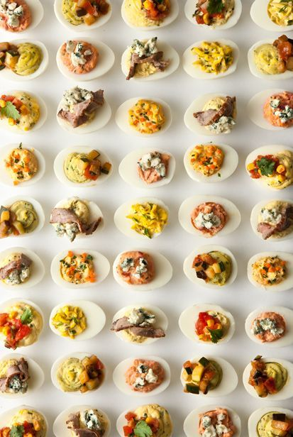 Deviled Egg Recipes is part of Deviled eggs recipe - Tangy, creamy, and topped with everything from steak to ratatouille