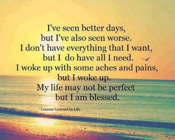 I am blessed..