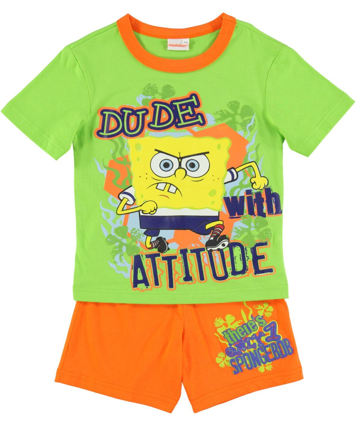 82962e540f30b SpongeBob is getting serious and your little guy can too in this SpongeBob  tee and shorts set. Available at selected Ackermans stores.