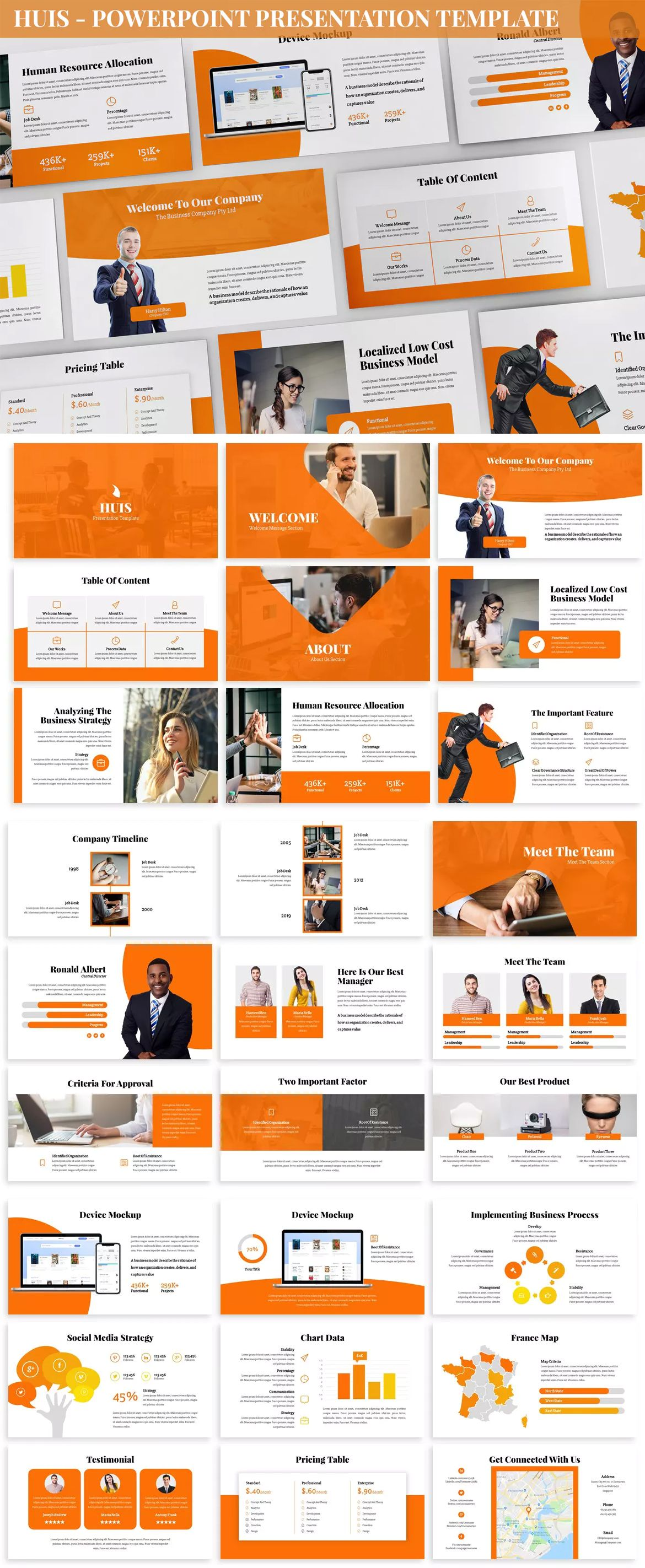 Huis Powerpoint Presentation Template 360 Total Slides 30