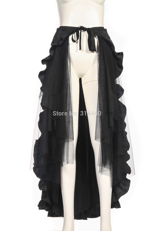 RQ BL Steampunk Floor length bustles ruffles Cap skirt ...