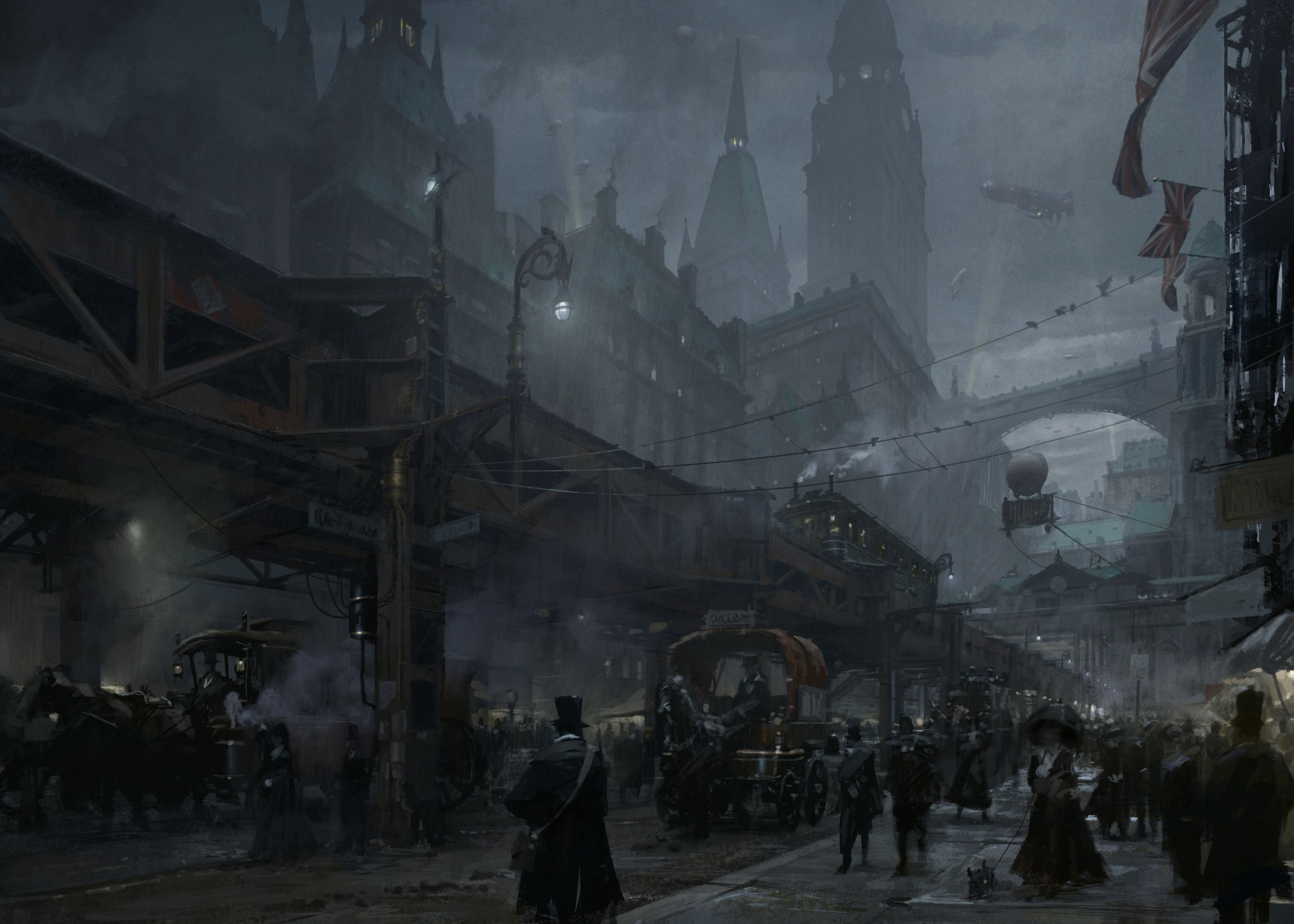 Pin by Brent Smith on Steampunk pollution | Steampunk city ...  |Victorian Steampunk Concept Art
