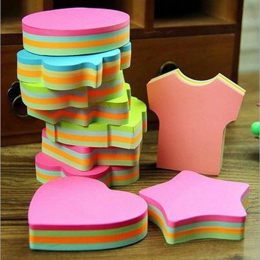 100 Pages Multicolore Sticky Notes Mignon Bureau Amour Blocs Notes