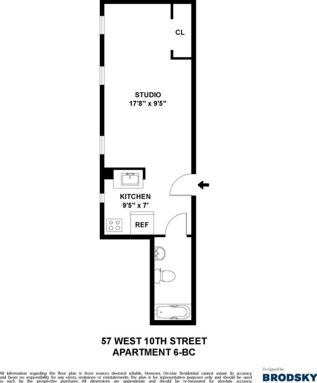 3 Bedroom Apartments Zillow: 57 W 10th St - New York, NY 10011 - Zillow