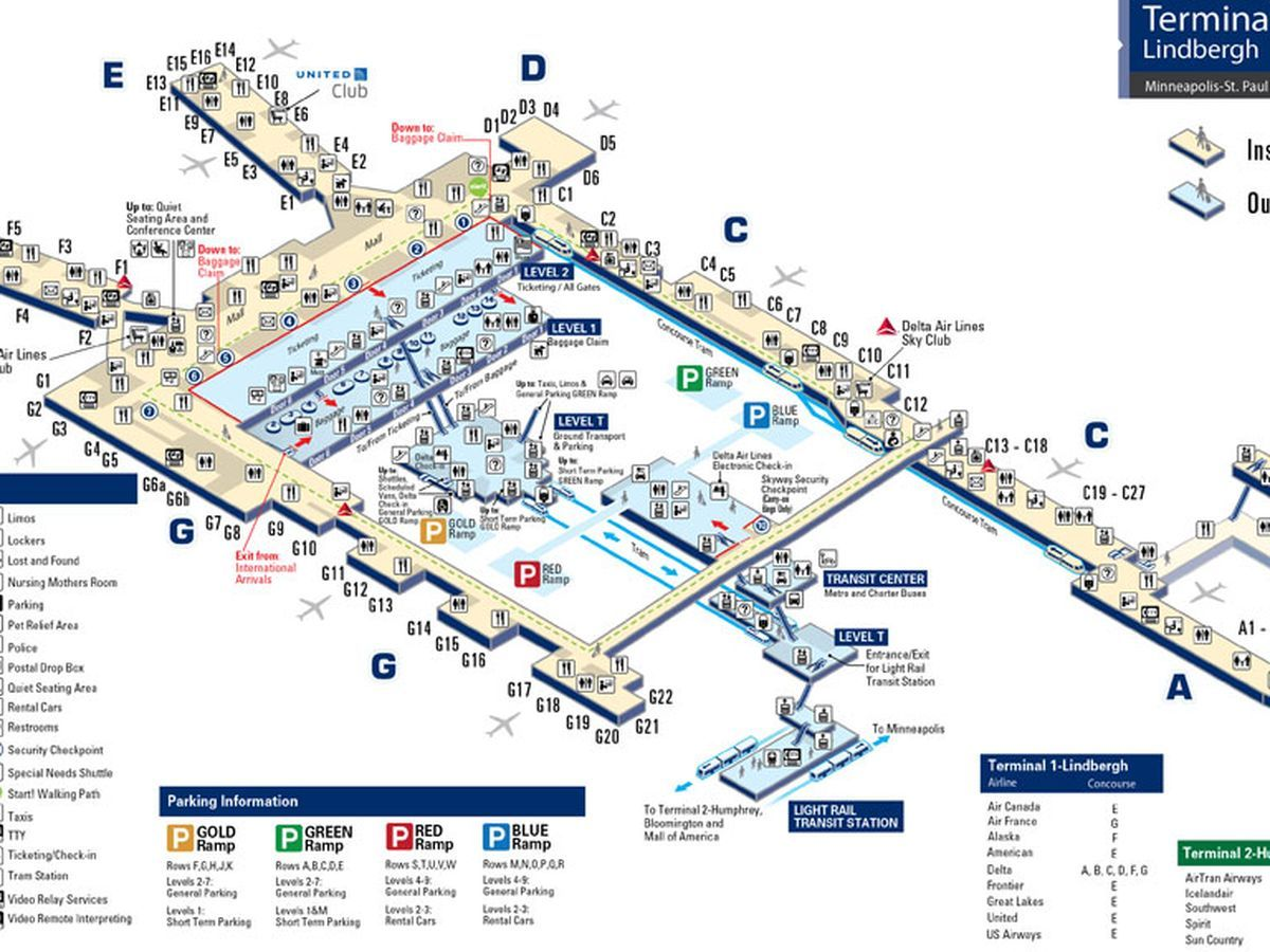 Msp Airport Map Where to Eat at Minneapolis St. Paul International Airport (MSP  Msp Airport Map