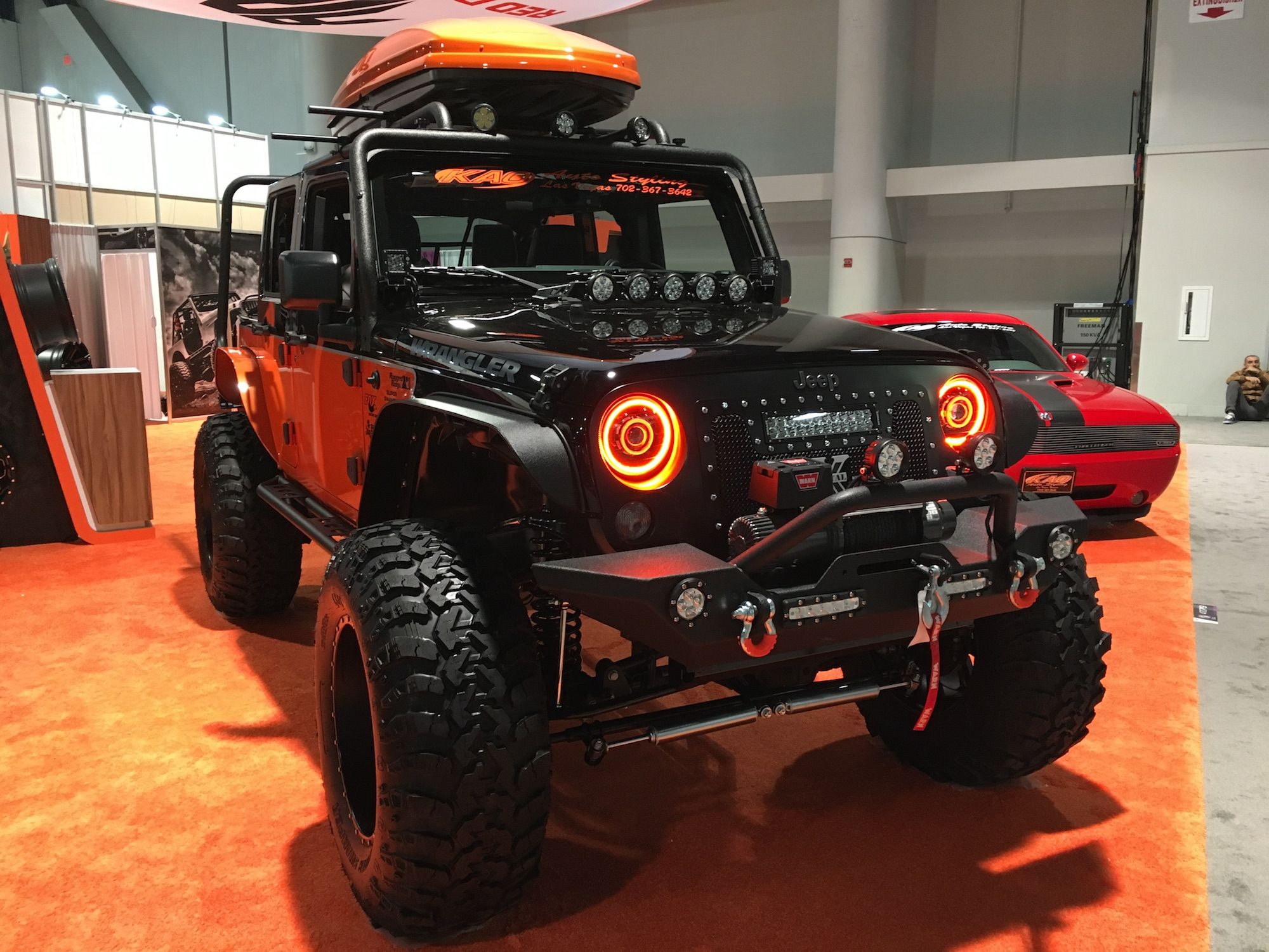 Jeeps Assemble Captain America Wrangler The Baddest Of All Jeep Construction Sema 2015 4x4s