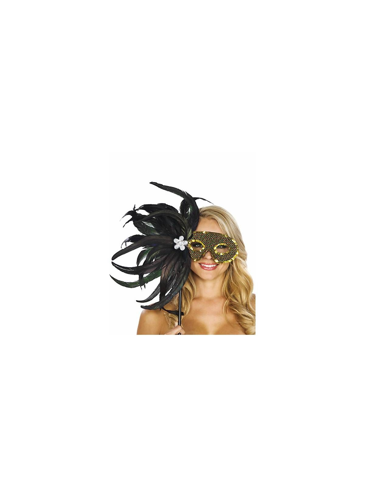 Black and Gold Feather Mask | Feather mask, Halloween 2014 and ...