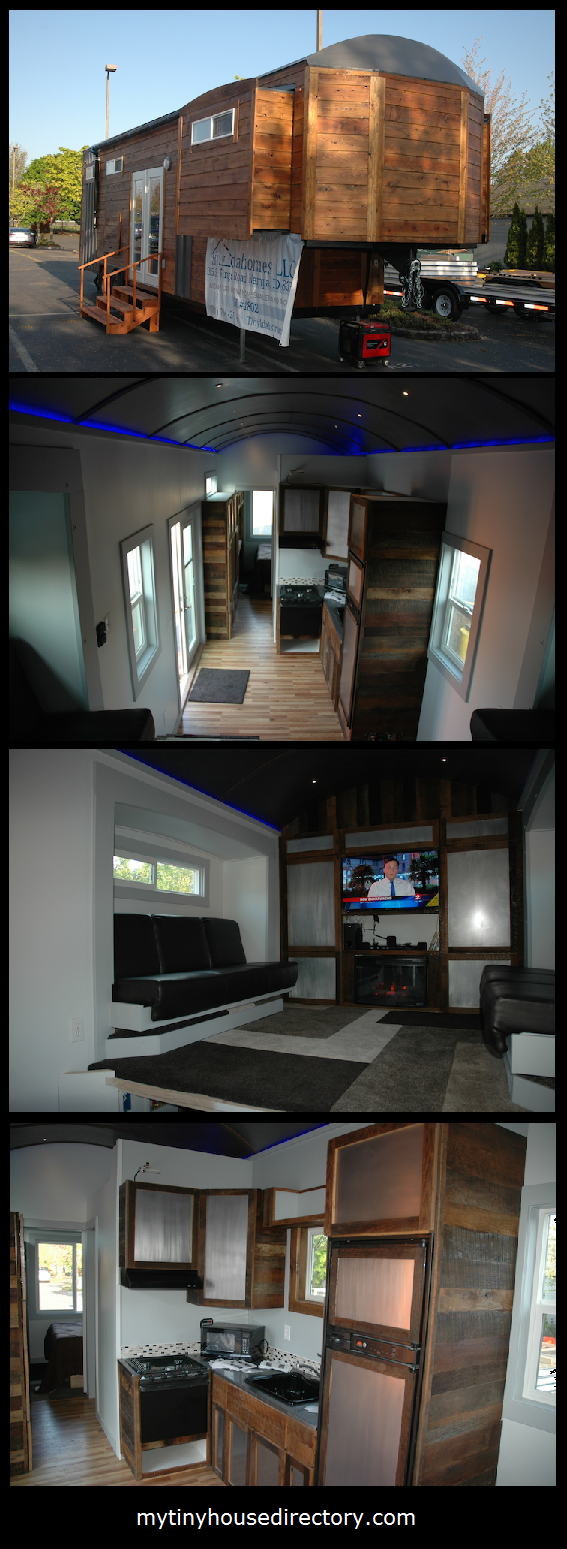 Mini loft bed with slide  mytinyhousedirectory Tiny Home with Murphy Bed and Slide Outs
