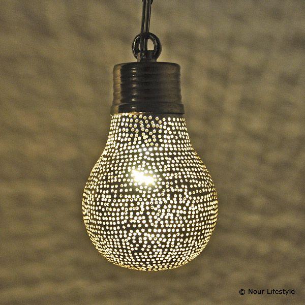 egyptische lampen halima hanglamp peer met gaatjes lampen