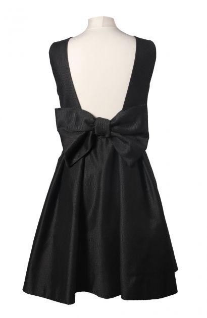 Robe noir gros noeud