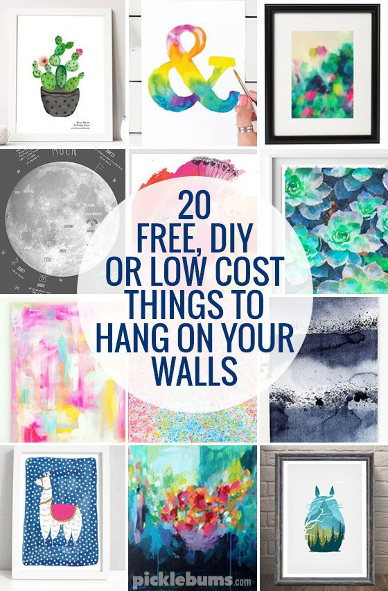 20 Free Diy Or Low Cost Things To Hang On Your Walls