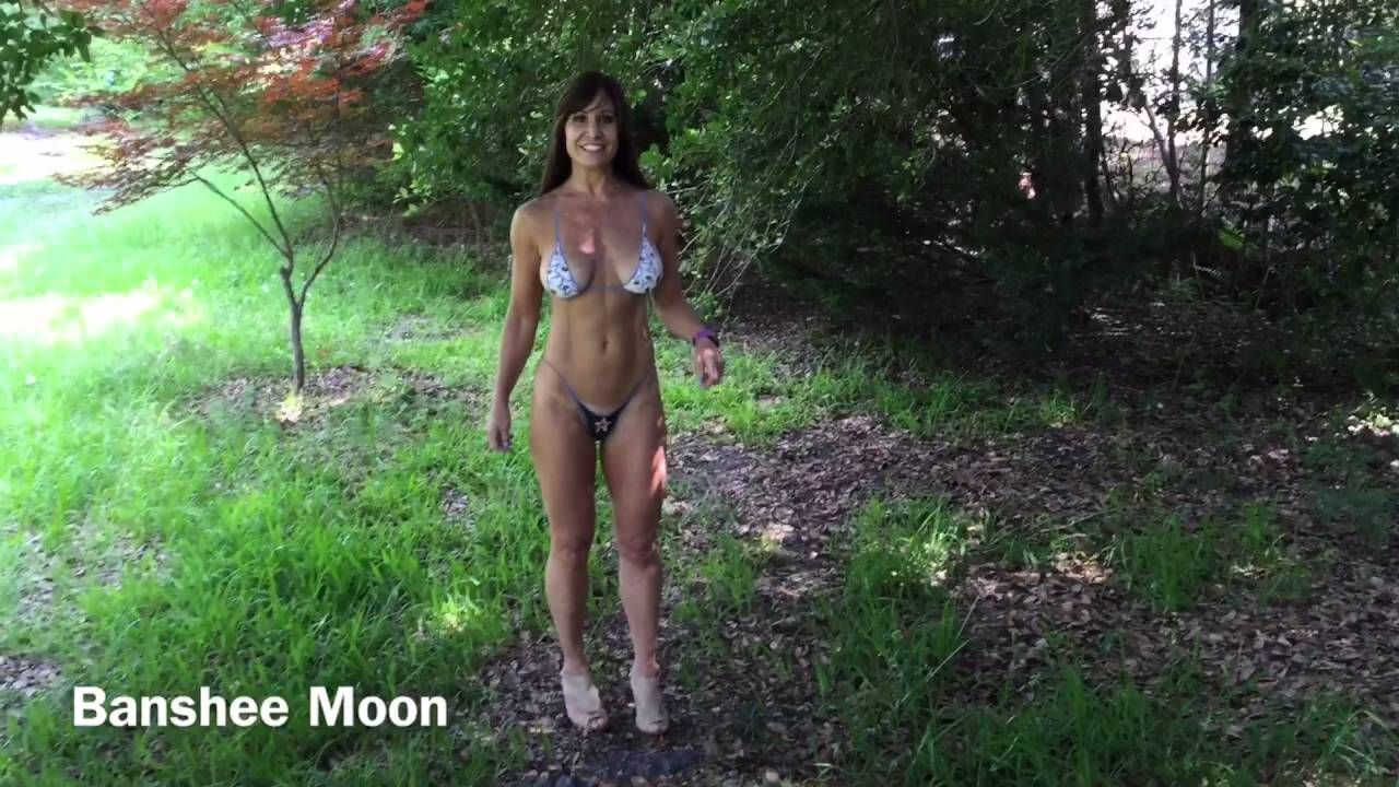 Girl painted bikini