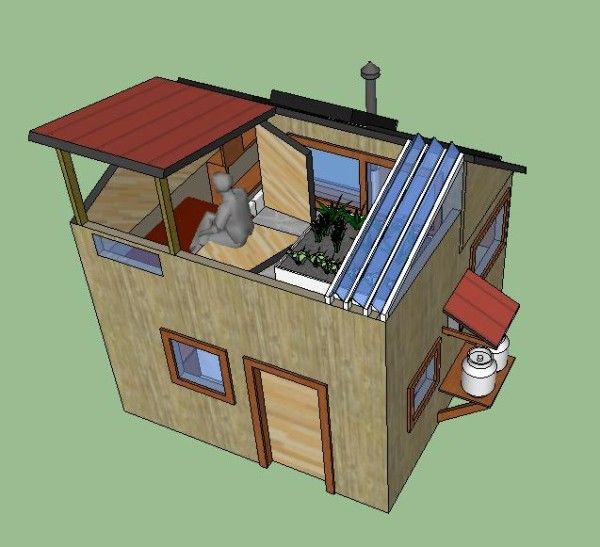 Off Grid Solar Eco Tiny House Includes Water Harvesting