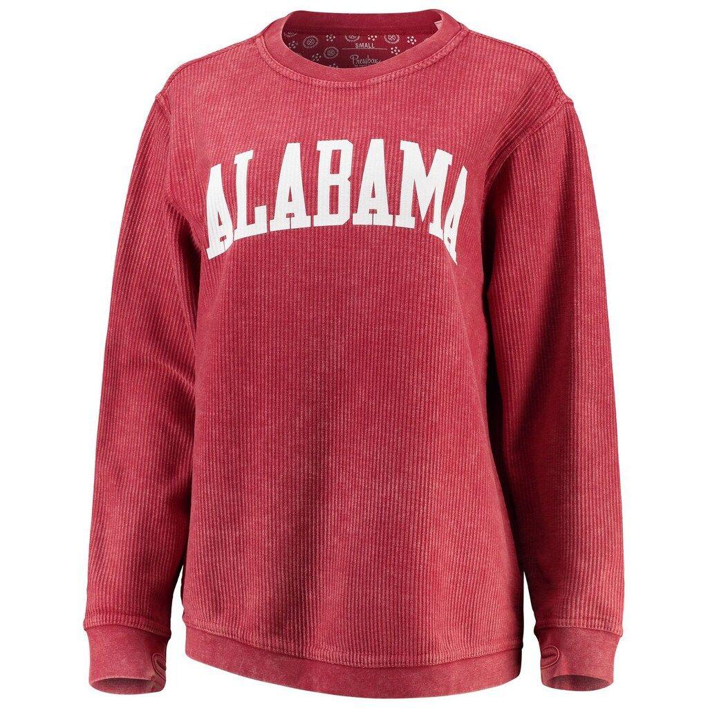 Women S Pressbox Crimson Alabama Crimson Tide Comfy Cord Vintage Wash Basic Arch Pullover Sweatshirt Alabama Sweatshirt Alabama Crimson Tide Crimson Tide [ 1024 x 1024 Pixel ]