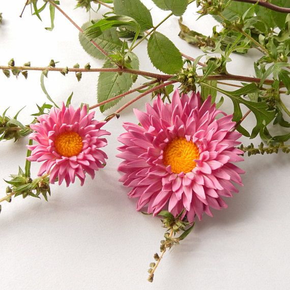 Aster Pendant Aster Brooch Aster Necklace Aster Ring Pink Pink Flower Jewelry Flower Jewellery Floral Jewellery