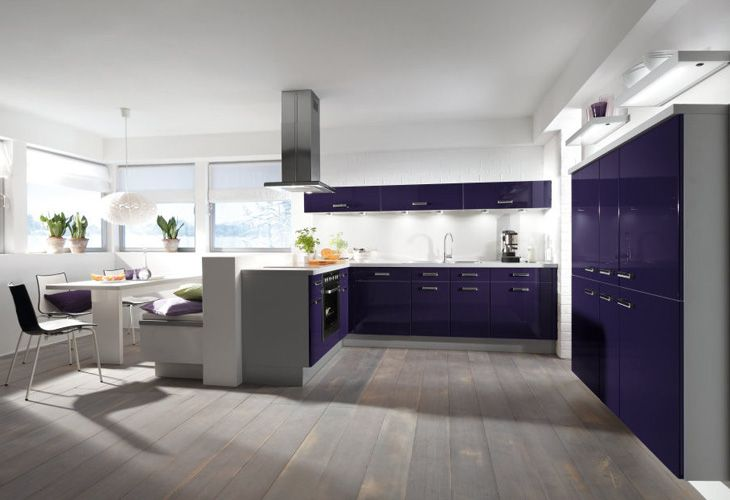 Lila Küche von Impuls by ALNO / purple kitchen by Impuls / ALNO ...