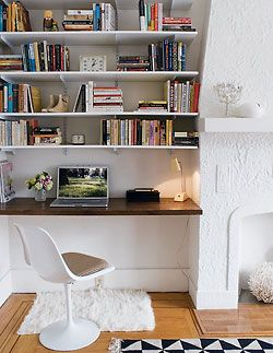 Home How To Built In Shelving Living Room Diy Home Alcove Desk
