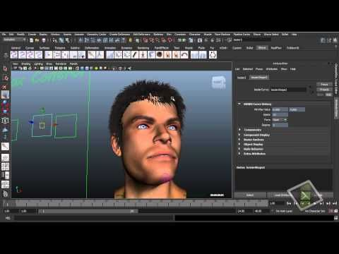 11 Creating Realistic hair/hairstyles with Maya's nhair. - YouTube