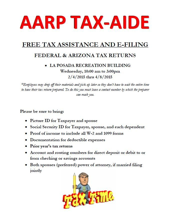 In  La Posada Family Members Received Free Tax Form