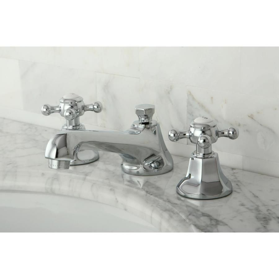 Kingston Brass Concord Chrome 2 Handle Widespread Bathroom Sink Faucet With Drain Lowes Com Widespread Bathroom Faucet Sink Faucets Kingston Brass [ 900 x 900 Pixel ]