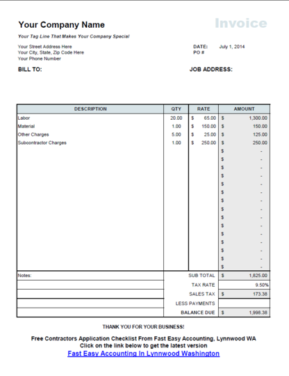 This Lesson Shows Contractors How To Make An Invoice On Excel That - How to make an invoice to get paid