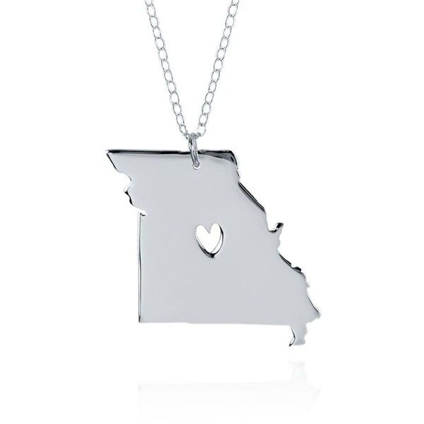 Belk co silver sterling silver missouri state pendant 60 silver sterling silver missouri state pendant 60 liked on polyvore aloadofball Gallery