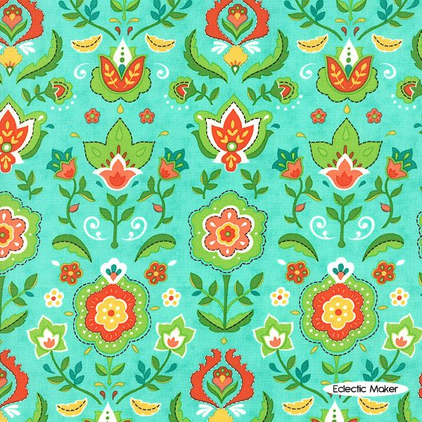 Lily Ashbury Folklore Cassy in Peacock Lily Ashbury Folklore Cassy in Peacock Moda fabric for patchwork quilting and dressmaking from Eclectic Maker [11481 14] : Patchwork, quilting and dressmaking fabric, patterns, haberdashery and notions from Fabric for Patchwork, Quilting and Dressmaking from Eclectic Maker