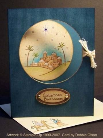 City of David Window card by debbiedesigns - Cards and Paper Crafts ...