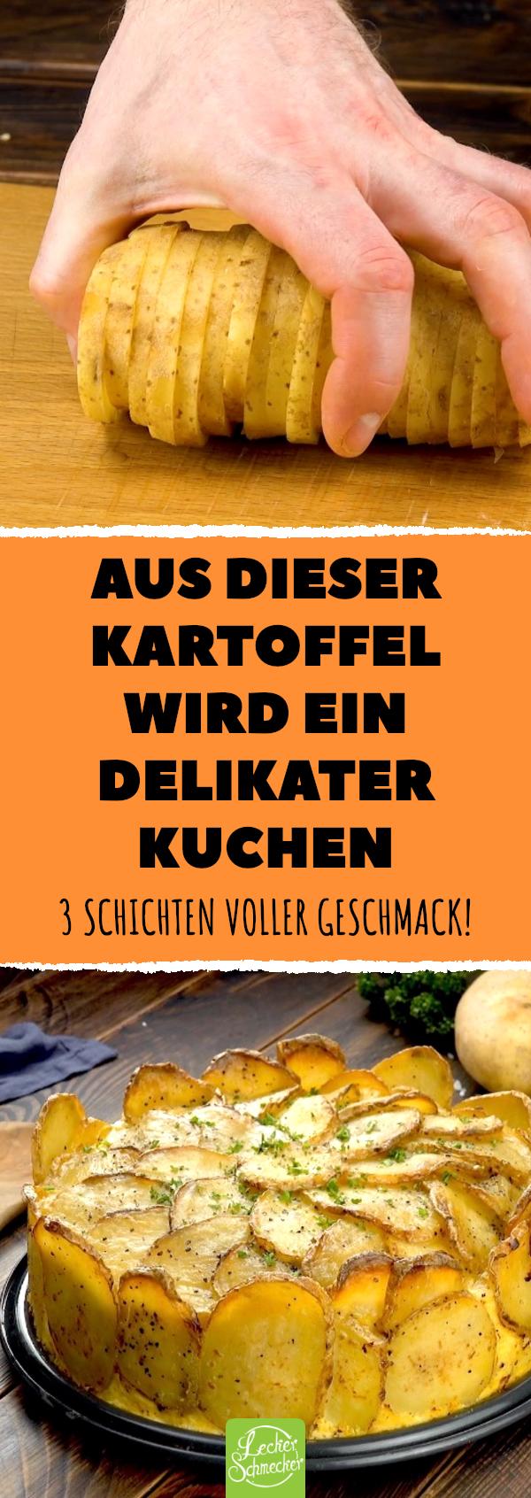 Aus dieser Kartoffel wird ein delikater Kuchen. 3 Schichten voller Geschmack! #lecker #rezepte #kartoffelkuchen #kartoffeln #kuchen #herzhaft #carneconpapas