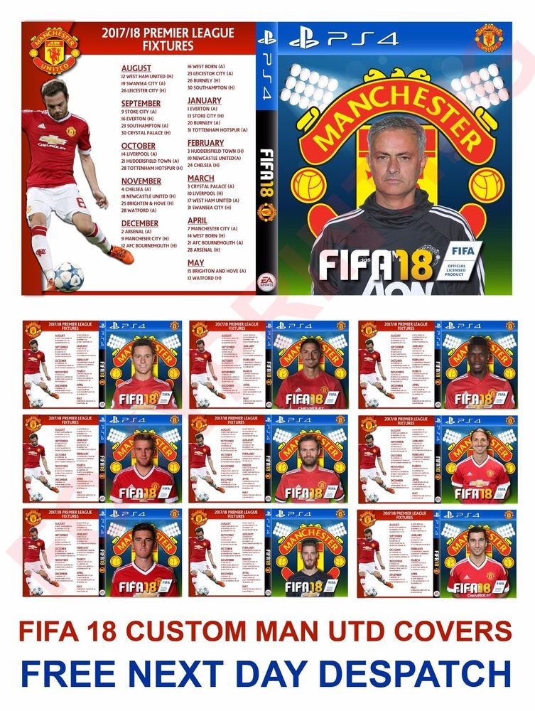 FIFA 18 Custom Man Utd Cover Complete with Club Fixtures