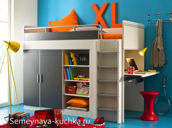кровать со шкафом Дизайн спален, Детская кровать и