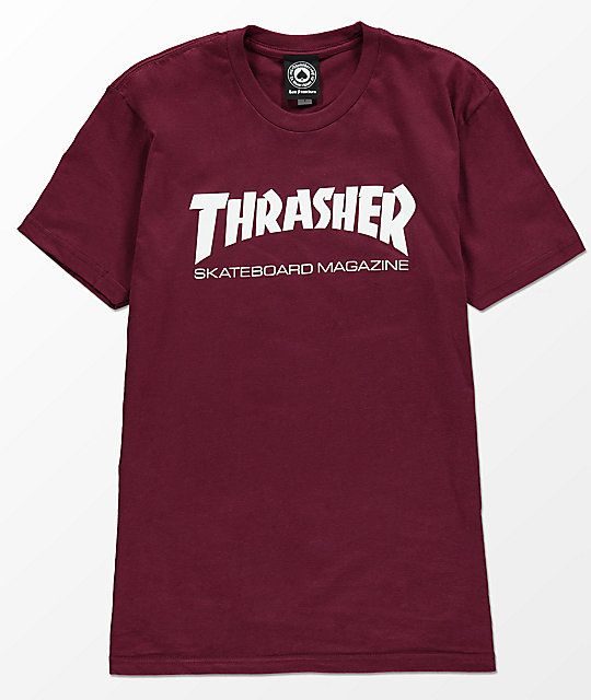 9f776384c9d0 Thrasher Skate Mag Burgundy Boyfriend Fit T-Shirt | wish! | Thrasher ...
