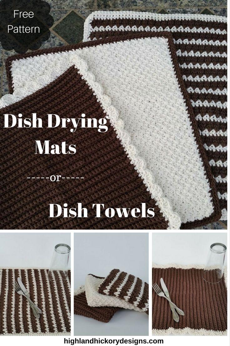 Dish Towels or Dish Mat - Free Crochet Pattern | Free pattern ...