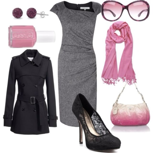 Business outfit Too much pink... Maybe blue or green?