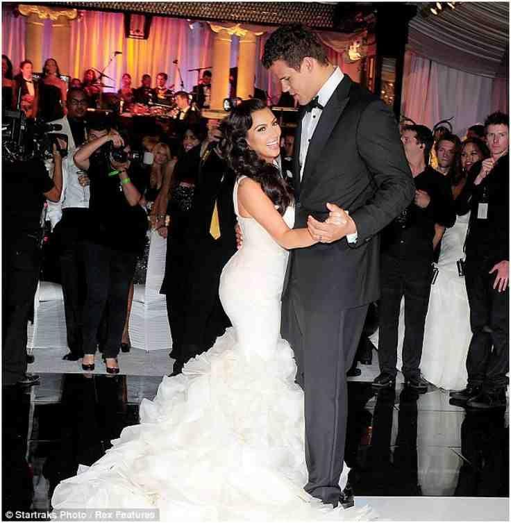 Kim Kardashian Wedding Reception Dress Wedding Reception