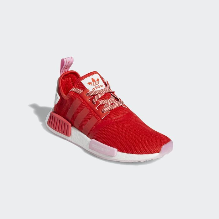 NMD_R1 Shoes Active Red 9.5 Womens   Red adidas shoes, Streetwear ...