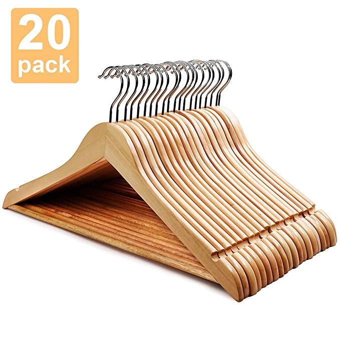 Amazon Com House Day Wooden Hanger 20 Pack Wooden Suit Hanger