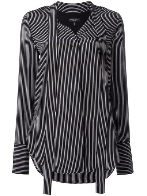RAG & BONE elongated striped shirt. #ragbone #cloth #shirt