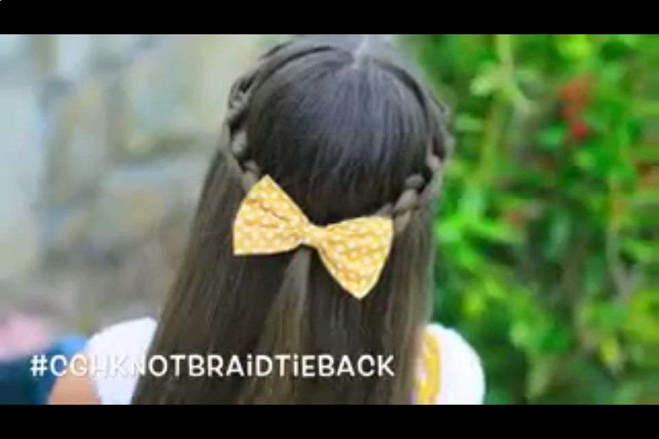 Knotted-tieback hairstyle