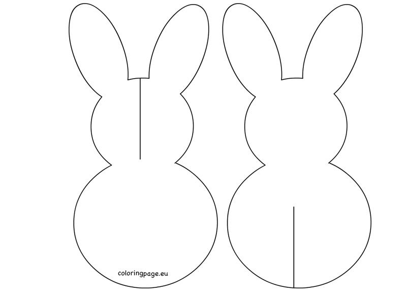 3D Paper Easter Bunny Printable