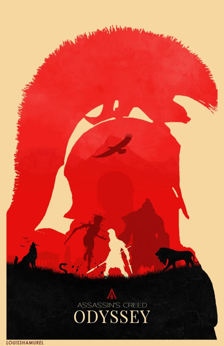 Assassin S Creed Odyssey Minimalist Fan Art Poster By Me Ig Louisshamurel Ubisoft Assassins Creed Artwork Assassin S Creed Wallpaper Assassins Creed Art