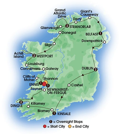 Ireland S Wild Atlantic Way Coach Tour Is 12 Nights 13 Days And