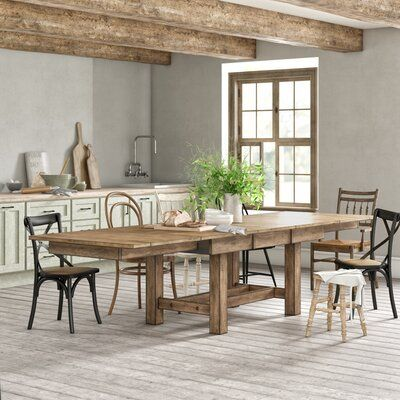 Loon Peak® Stuart Extendable Solid Wood Dining Table | Birch Lane