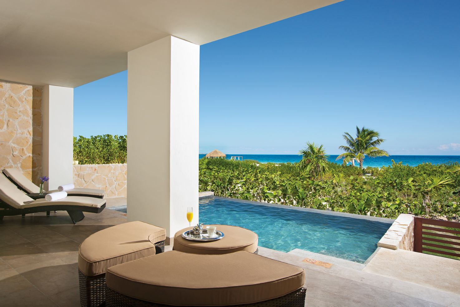 Preferred Club Master Suite Ocean Front Terrace With Private Pool
