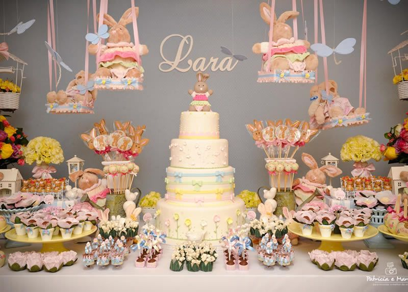 High Quality Baby Shower,bunny Themed Baby Shower,girl Baby Shower,girls Baby Shower,