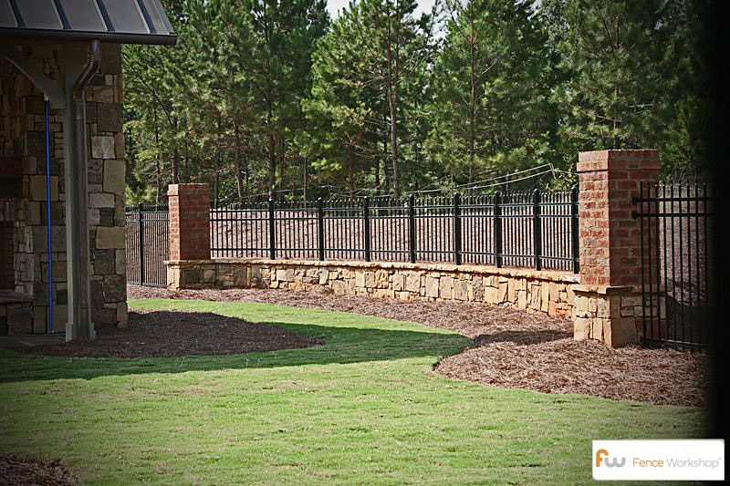 Pin By Fence Workshop On Metal Fences Brick Fence Fence Design Brick Columns