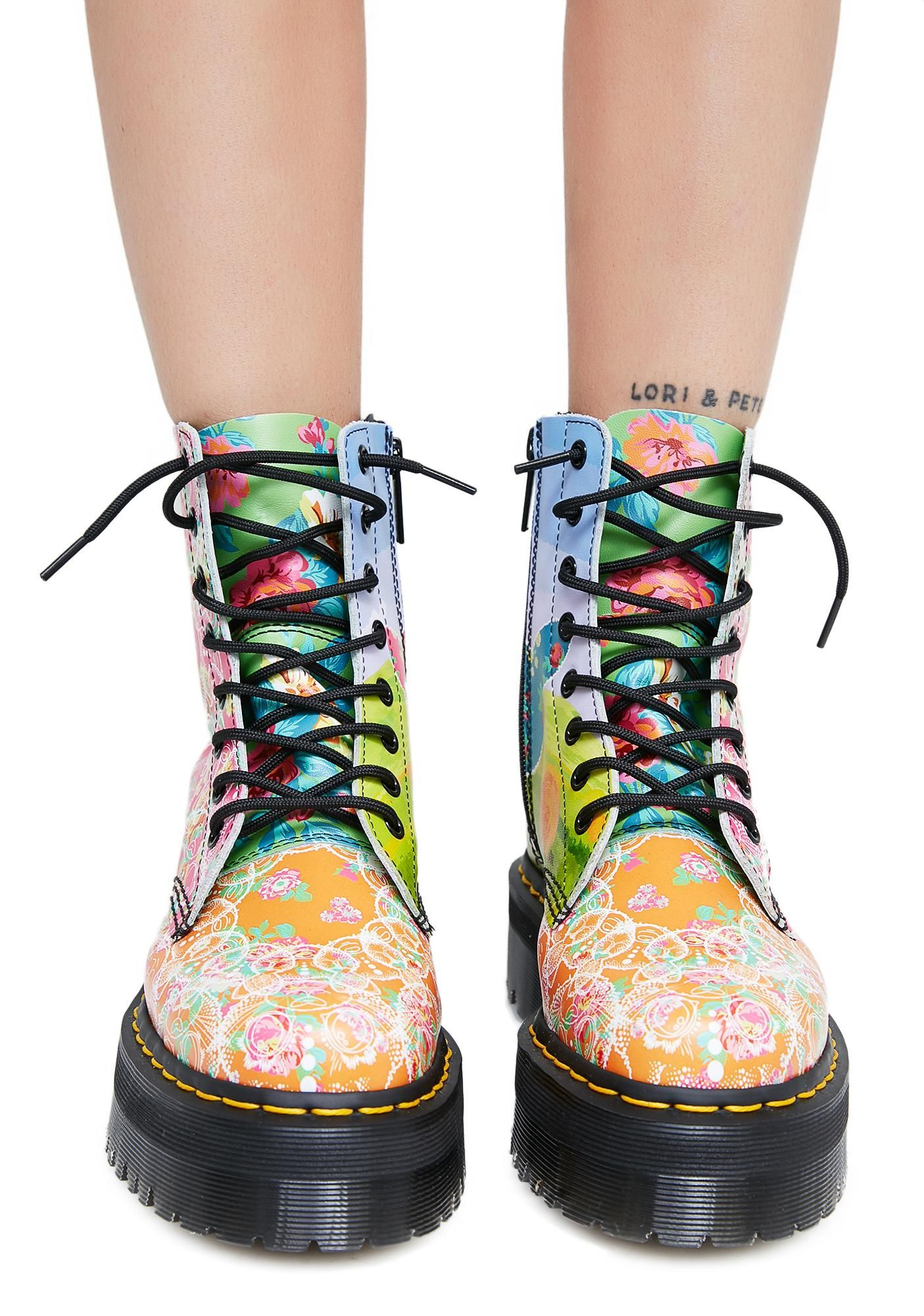 Dr. Dr. Martens Womens Jadon Daze Leather Boots - Multi - 41 Eu Martres Des Femmes De Bottes En Cuir Jadon De Daze - Multiples - 41 Eu ZJ98BaADh