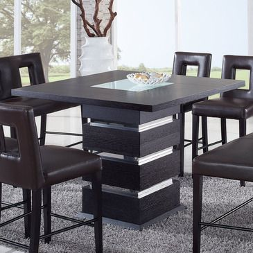 Constructed Of Oak Wood Veneers This Dining Table Makes A Bold Statement Finished Dining Table Design Modern Furniture Dining Table Dining Room Contemporary